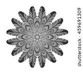 circular pattern of hand drawn... | Shutterstock . vector #459691309