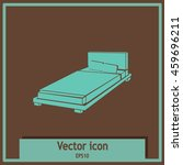 bed icon | Shutterstock .eps vector #459696211