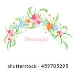 flowers composition.  | Shutterstock .eps vector #459705295