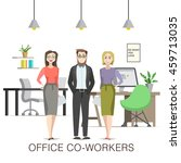 office co workers illustration... | Shutterstock .eps vector #459713035