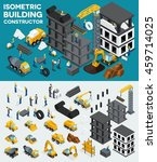 design building isometric view  ... | Shutterstock .eps vector #459714025