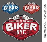 motorcycle biker typography  t... | Shutterstock .eps vector #459731305
