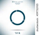 circular arrows vector icon | Shutterstock .eps vector #459731935