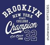 athletic sport brooklyn... | Shutterstock .eps vector #459732301