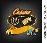 casino welcome icon | Shutterstock . vector #459733921