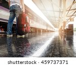 asian traveler man with... | Shutterstock . vector #459737371