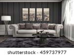 interior with sofa. 3d... | Shutterstock . vector #459737977