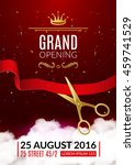 grand opening invitation card.... | Shutterstock .eps vector #459741529