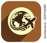 travel the world plane icon ...