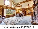 bright living room interior in... | Shutterstock . vector #459758311