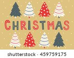 christmas greeting card with... | Shutterstock .eps vector #459759175