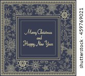 christmas card with gold... | Shutterstock .eps vector #459769021