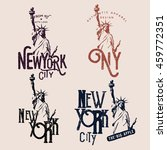 new york themed badges  t shirt ... | Shutterstock .eps vector #459772351