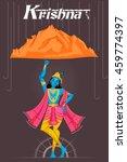 indian god krishna lifting... | Shutterstock .eps vector #459774397
