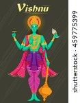 indian god vishnu giving... | Shutterstock .eps vector #459775399