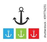 anchor icon. simple logo of...