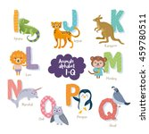 cute zoo alphabet in vector. i  ... | Shutterstock .eps vector #459780511