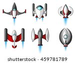 spaceship and ufo set ...   Shutterstock .eps vector #459781789