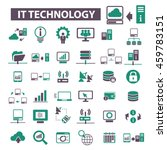 it technology icons | Shutterstock .eps vector #459783151