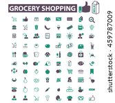 grocery shopping icons | Shutterstock .eps vector #459787009