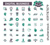 digital marketing icons | Shutterstock .eps vector #459787879