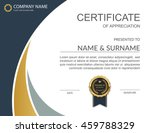 vector certificate template. | Shutterstock .eps vector #459788329