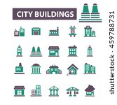 city buildings icons | Shutterstock .eps vector #459788731