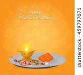 beautiful creative rakhi ... | Shutterstock .eps vector #459797071