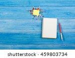 white blank open notepad book...   Shutterstock . vector #459803734