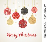 christmas greeting card with... | Shutterstock .eps vector #459803959