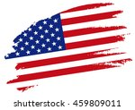 american flag  vector. | Shutterstock .eps vector #459809011