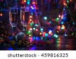 two shampagne glasses on... | Shutterstock . vector #459816325