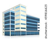 office building with entrance... | Shutterstock .eps vector #459816625