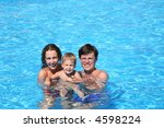 mum the daddy and a daughter in ... | Shutterstock . vector #4598224