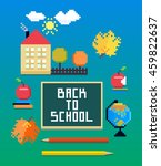 back to school vector collection | Shutterstock .eps vector #459822637