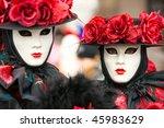 carnival masks in venice  italy. | Shutterstock . vector #45983629
