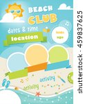 beach club or camp for kids.... | Shutterstock .eps vector #459837625