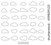 vector set of clouds shapes