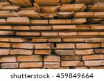stack of square wood planks | Shutterstock . vector #459849664