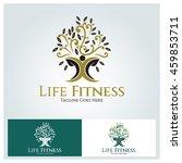 life fitness logo vector design