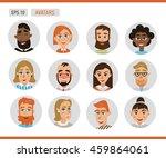 avatars business people. vector ... | Shutterstock .eps vector #459864061