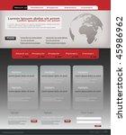 editable website template | Shutterstock .eps vector #45986962