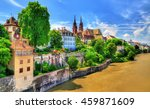 old town of basel with the...   Shutterstock . vector #459871609