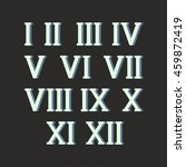 roman numerals set of vector... | Shutterstock .eps vector #459872419
