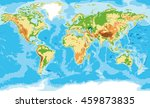 highly detailed physical map of ... | Shutterstock .eps vector #459873835