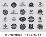 retro vintage emblems and... | Shutterstock .eps vector #459875755