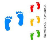 shoe foot print. colorful set... | Shutterstock .eps vector #459880561