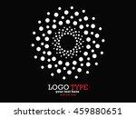 abstract halftone logo design... | Shutterstock .eps vector #459880651