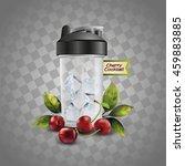 fruit cocktail. vector... | Shutterstock .eps vector #459883885
