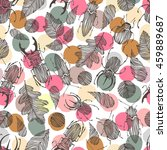 vintage seamless pattern with... | Shutterstock .eps vector #459889687